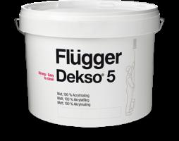Flugger Dekso 5, 100%- акриловая матовая краска для стен и потолков база 4 (0,75л)