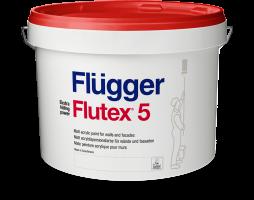 Flugger Flutex 5, матовая акриловая краска для стен и потолков база 5 (2,8л)