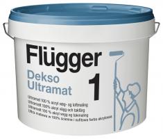 Flugger Dekso Ultramat 1, краска акриловая экстра прочная, грязеотталкивающая, совершенно матовая база 1 (2,8л)
