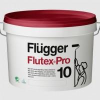 Flügger Flutex Pro 10, акриловая краска, с повышенной кроющей способностью для стен и потолков внутри помещений база 3 (0,7л)